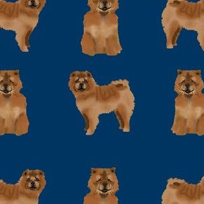 chow chow simple  dog breed fabric navy