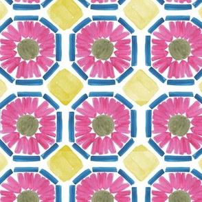 Pink Watercolor Tiles