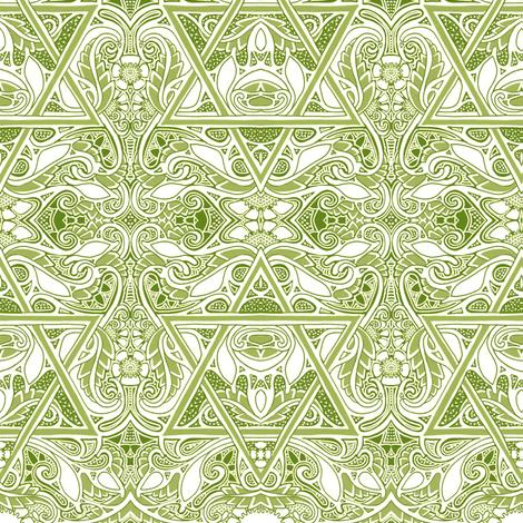 Swimming Star Garden fabric by edsel2084 on Spoonflower - custom fabric
