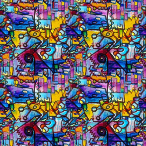 Suburban Beat sharp seamless tiling pattern