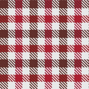 Two Color Gingham Brown and Red