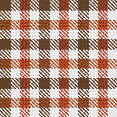 Two Color Gingham Brown and Orange fabric by eclectic_house on Spoonflower - custom fabric