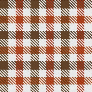 Two Color Gingham Brown and Orange