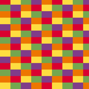 Kente  inspired color blocks
