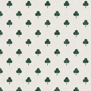 (small scale) simple shamrock on beige