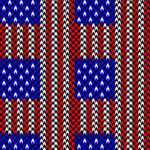 us flag hounds tooth