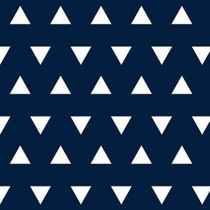 Triangles – Navy  + White Triangle Geometric Baby Kids