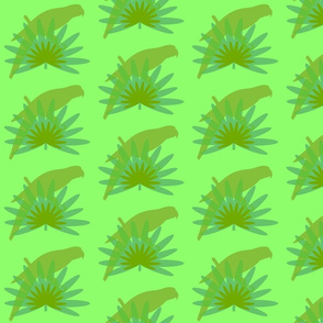 Parrots in the Desert-green
