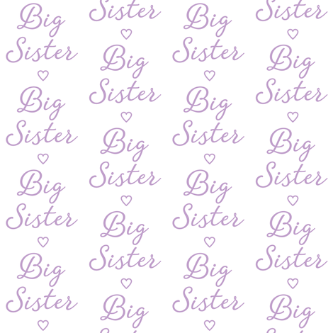 lavender big-sister-with-heart fabric by lilcubby on Spoonflower - custom fabric