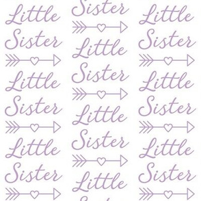 lavender little-sister-with-heart-arrow
