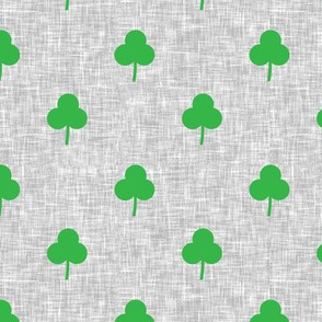 simple shamrock on light grey