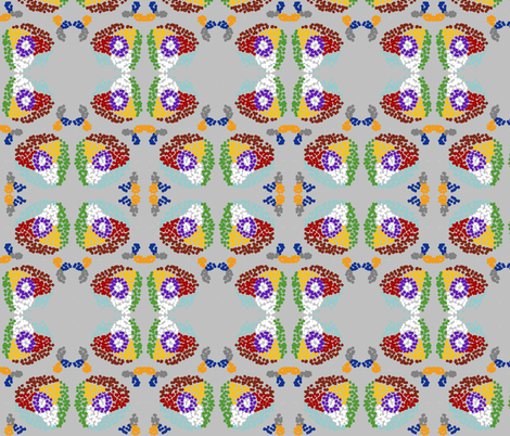 Position of a woman in Zulu fabric by beafrica on Spoonflower - custom fabric