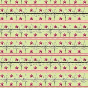 Cherry Blossom Stripe - origami-green