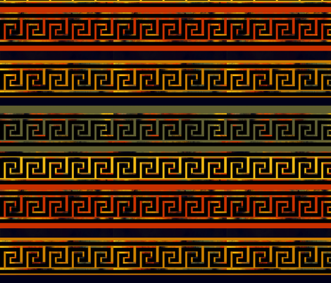 Greek Design by kedoki in Hawaiian Colors fabric by kedoki on Spoonflower - custom fabric