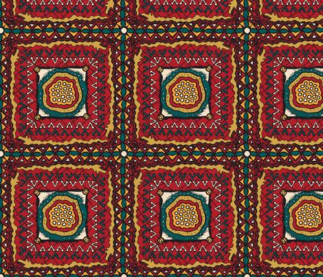 Jool's Wax Print Inspired - main fabric by jewelraider on Spoonflower - custom fabric