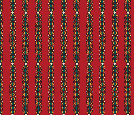 Jool's Wax Print Inspired - coordinate 1 fabric by jewelraider on Spoonflower - custom fabric
