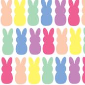 Rainbow peep bunnies