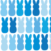 Blue ombré peep bunnies