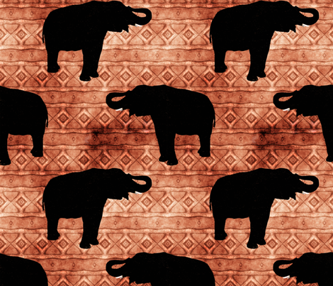 Elephant Silhouettes fabric by linda_baysinger_peck on Spoonflower - custom fabric