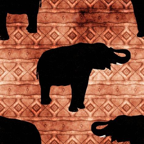Rrrrrblack-elephants-orange-tribal-look-stripe_shop_preview