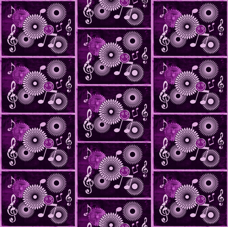 Mini Musical Daze in Monochromatic Purple - MD35mini fabric by maryyx on Spoonflower - custom fabric