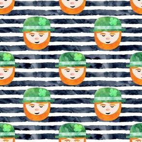 Leprechaun on navy
