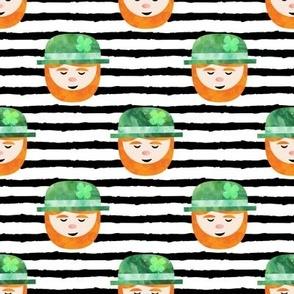 Leprechaun on black stripes