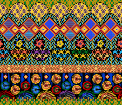 Colors of Africa fabric by y_me_it's_me on Spoonflower - custom fabric