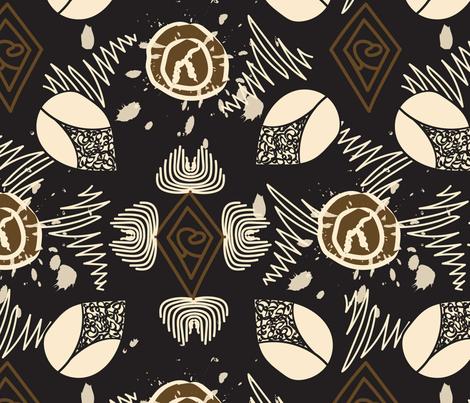 Coffee-and-Cream fabric by oona2707 on Spoonflower - custom fabric