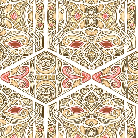 Say Hi Aztec Fly fabric by edsel2084 on Spoonflower - custom fabric