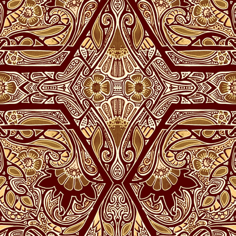 Dreams of Milk Chocolate fabric by edsel2084 on Spoonflower - custom fabric