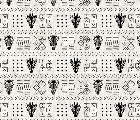 Negative Space Safari Animals fabric by danielle_kinleyryland on Spoonflower - custom fabric