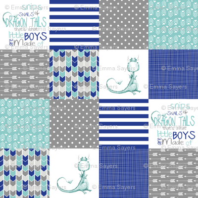 Bright Dragon Tails - Wholecloth Cheater Quilt