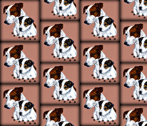 Jack Russel Terrier fabric by bow_lady_design on Spoonflower - custom fabric