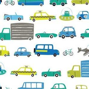 Cars & Trucks (white ground)