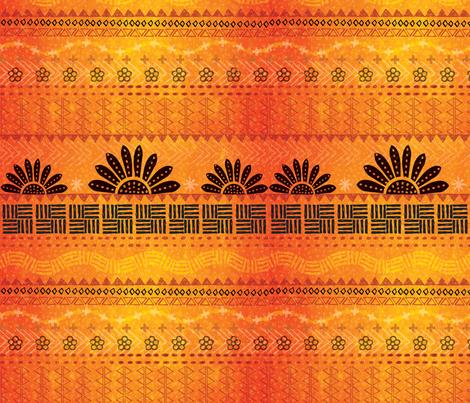 African Sunrise fabric by cathy_ann on Spoonflower - custom fabric