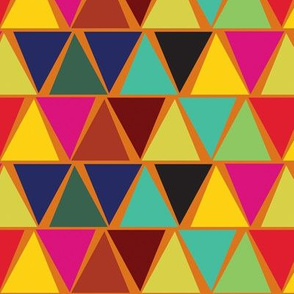 Africa Geometric orange
