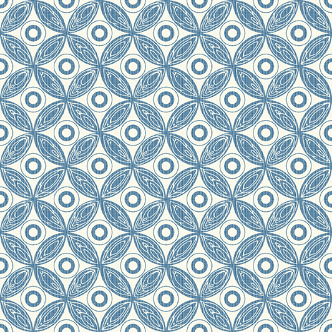 Oh my...they're vaginas // blue  fabric by ruth_robson on Spoonflower - custom fabric