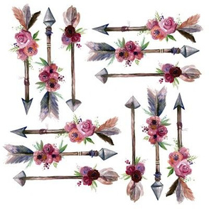 Small Boho Arrows with Florals