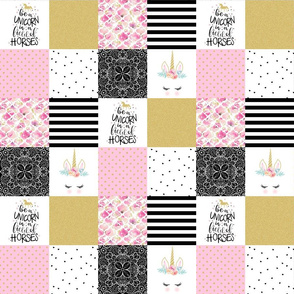 3 inch Be a Unicorn - Wholecloth Cheater Quilt