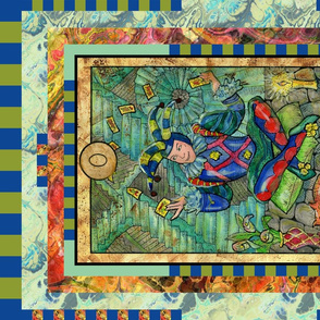 THE FOOL TAROT CARD FAT QUARTER PANEL  MAJOR ARCANA