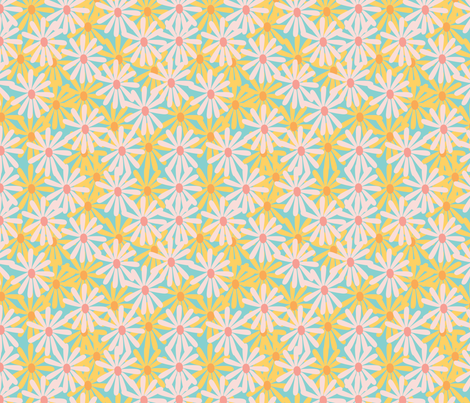 70's Floral fabric by inezjestine on Spoonflower - custom fabric