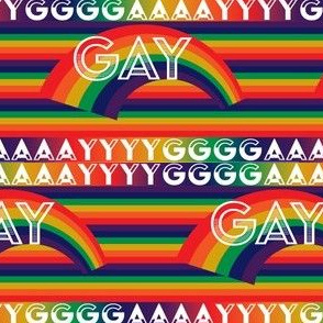 Screaming Rainbow Gay Pattern