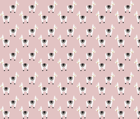 watercolor llamas // 66-9 fabric by ivieclothco on Spoonflower - custom fabric