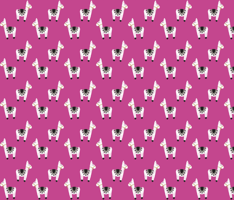 watercolor llamas // 80-14 fabric by ivieclothco on Spoonflower - custom fabric