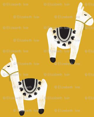 watercolor llamas // gold