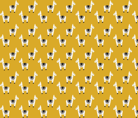 watercolor llamas // gold fabric by ivieclothco on Spoonflower - custom fabric