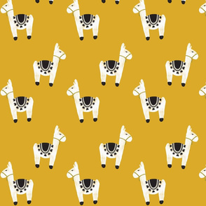 watercolor llamas // gold