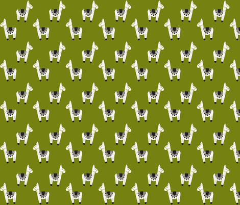 watercolor llamas // 165-8 fabric by ivieclothco on Spoonflower - custom fabric
