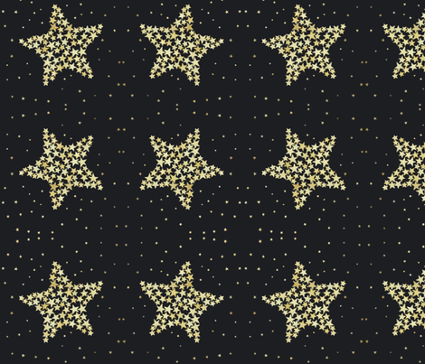 Star of Stars - black fabric by martha_emily_designs on Spoonflower - custom fabric